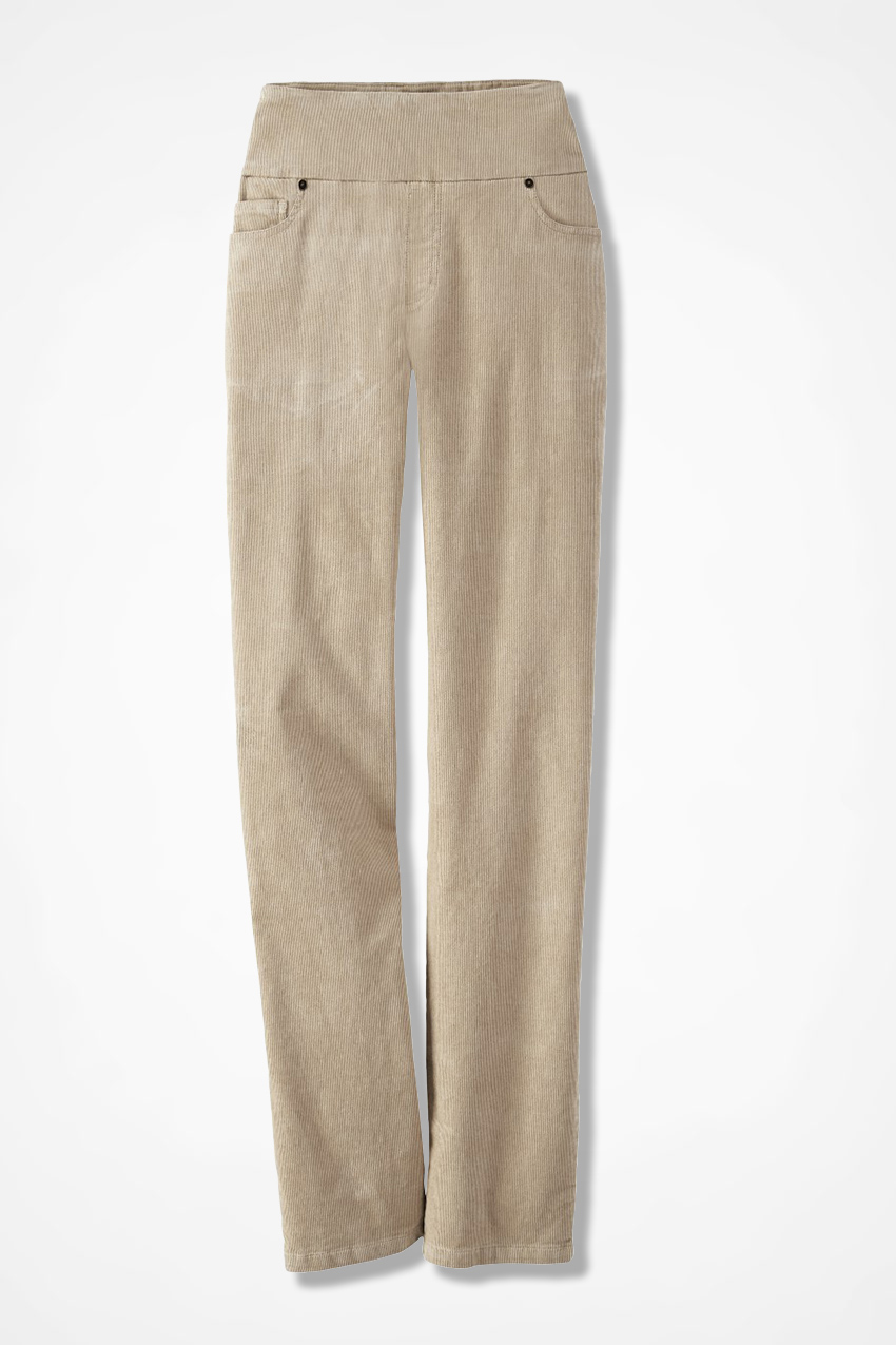 acb924da3212bc Pinwale Pull-On Stretch Corduroys, Sand, large. Tall Sizes
